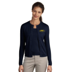 EMAP Accredited Navy Crewneck Cardigan Sweater