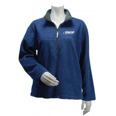 EMAP Ladies Navy 1/4 Zip Fleece